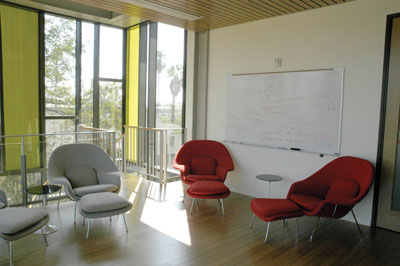The Annenberg Center, upstairs lounge