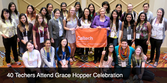 40 Techers Attend Grace Hopper Celebration