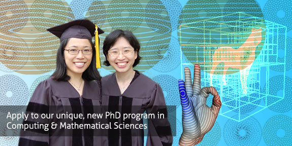apply to our new PhD program in Computing and Mathematical Sciences