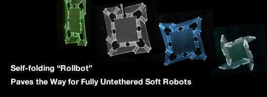 Self-folding Rollbot paves the way for fully untethered soft robots