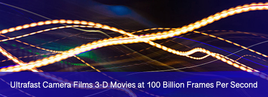 Ultrafast Camera Films 3-D Movies at 100 Billion Frames Per Second