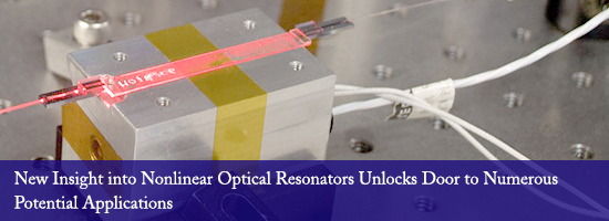 New Insight into Nonlinear Optical Resonators Unlocks Door to Numerous Potential Applications