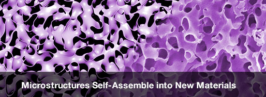 Microstructures Self-Assemble into New Materials