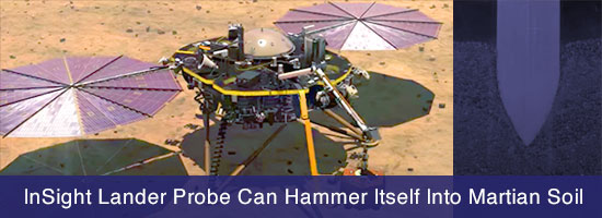 InSight Lander Probe Can Hammer Itself Into Martian Soil