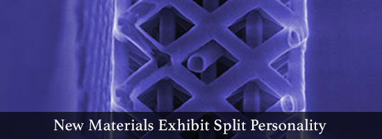 New Materials Exhibit Split Personality