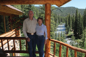 Jim Hall and his wife, Sandy, at their Colorado home.