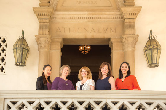 Left to right: Jessica Lee, Lelia Marshall, Nicola Wilkins-Miller, Catherine Reeves, and Cathy Axibal-Cordero