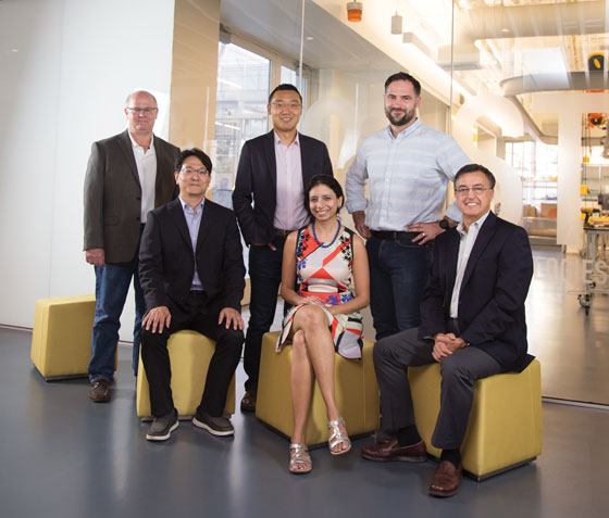 Left to right: Joel Burdick, Soon-Jo Chung, Yisong Yue, Anima Anandkumar, Aaron Ames, and Mory Gharib
