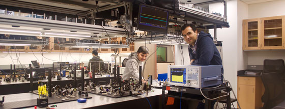 Optical Ising machine utilizes light pulses in a long spool of fiber to solve computational problems that are challenging for digital computers. Such special-purpose computers that the Marandi Group is developing could enable new paths for intelligent systems.