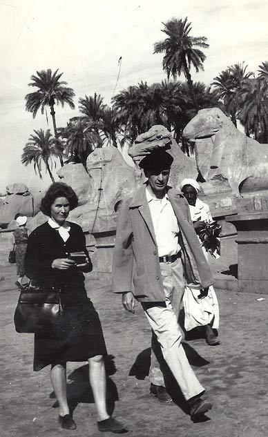 Catharine and Francis Clauser at Karnak.