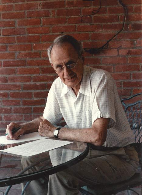 Francis Clauser at home in La Cañada.