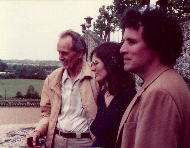 Francis Clauser, Cary, and future son-in-law, Mark Howson, in Burgundy, 1981.