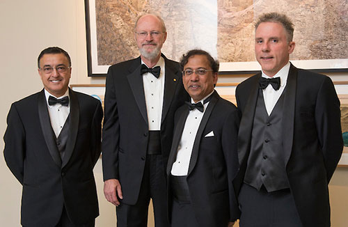 From left to right: Mory Gharib, Robert Grubbs, Guruswami Ravichandran, and Harry A. Atwater (photo by Cable Risdon for NAE)