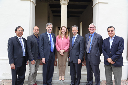From left to right: Guruswami Ravichandran, Vandad Espahbodi, Erik Antonsson, Andrea Belz, John Tracy, Scott Fouse, Morteza Gharib