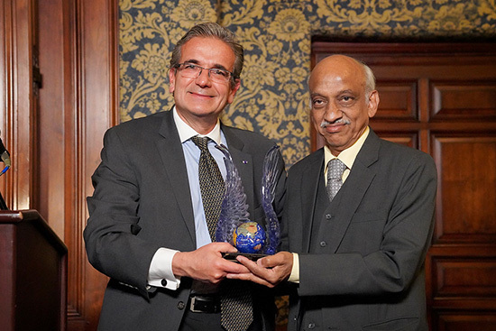 Left to right: Professor Ares Rosakis and honoree A. S. Kiran Kumar