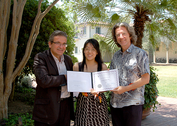 Prof. Ares Rosakis, Judy Mou, Prof. Peter Schroeder