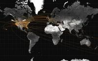 Data artist Jer Thorp extracted location information from tweets to create a graphic depicting air travel.