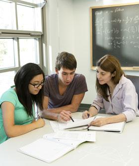 Professor Asimaki with students