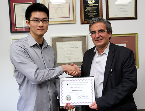 Kuan-Chang Chen with EAS Division Chair Ares Rosakis