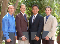 From left to right: Matt Eichenfield, Morgan Putnam, Xiquan Cui, Andrew May.