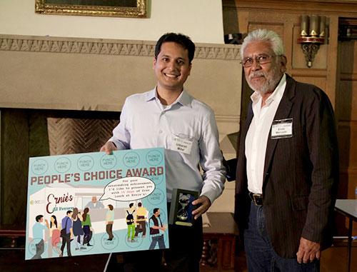 Utkarsh Mital receiving People's Choice Award from Mr. Ernesto Mercardo