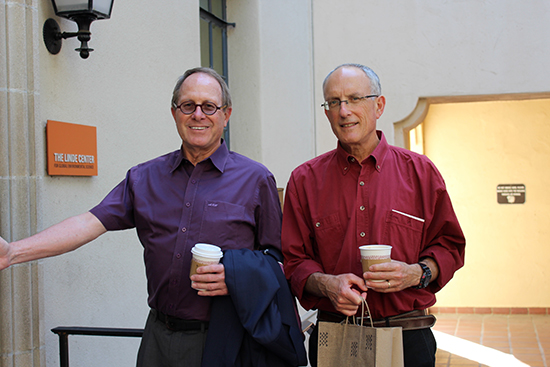 Left to right: Michael Hoffmann, and Yigal Erel