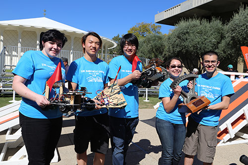 Members of winning team—Yunsang Choi, Mayra Melendez, Allison Penn, Eduardo Plascencia, and William Yu