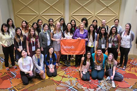 Caltech students at 2017 Grace Hopper Celebration