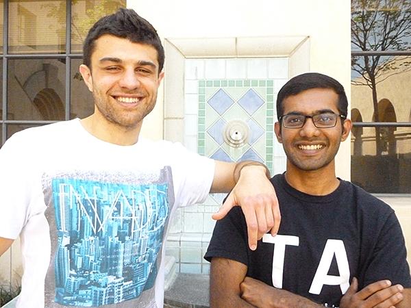 L-R Christos Thrampoulidis and Kishore Jaganathan
