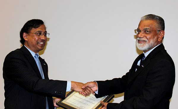 Director of GALCIT Guruswami Ravichandran and Dr. Radhakrishnan