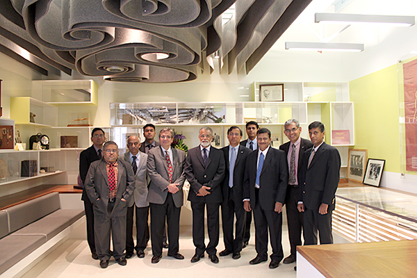 Indian delegation with Chair Rosakis, Director of GALCIT Guruswami Ravichandran, and JPL-Caltech Liaison Virendra Sarohia